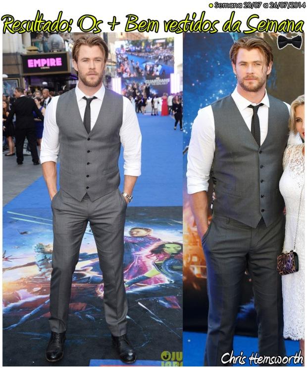 resultado os mais bem vestidos da semana Chris Hemsworth